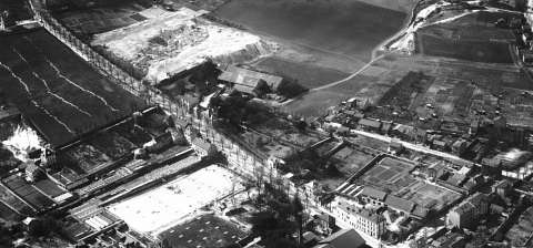 02 Plâtrière et carrière de sable Barbeau (Photographie aérienne I.G.N. du 31 mars 1931)