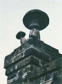 28 Champignons placés sur le portail de la Champignonnière Pintaux, Boulevard de Vanves,1983