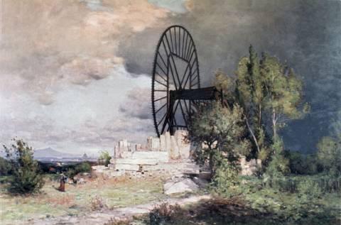 Roue de carrière dans la plaine de Clamart, Jean-Constant Pape, 1900.