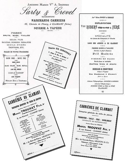 7 Entête de lettre de carriers, 1906 et 1930.