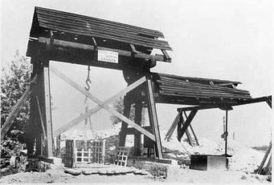 8 Treuil de la carrière TROUVAT à Meudon vers 1930