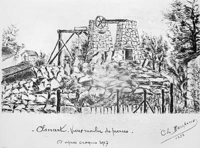 16 Vieux moulin de pierres d'après un croquis de 1917, Ch. DOUPEUX, 1938