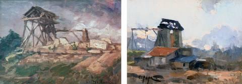 18 Treuil de carrière, Gaston Moreau, 1922. Treuil de carrière, Jean-Constant Pape