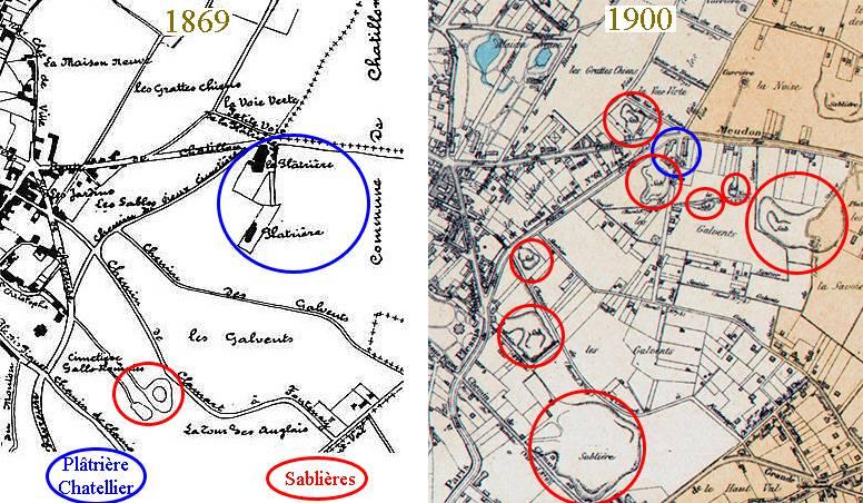 25 Localisation de la plâtrière CHATELLIER aux Galvents